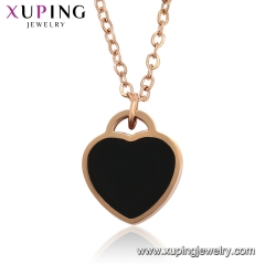 xuoing fashion heart necklace (46370)